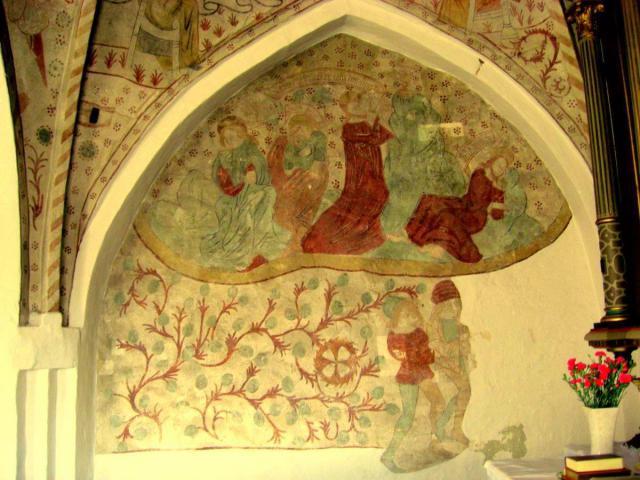 Getsemane fremstilling i Gislev kirke