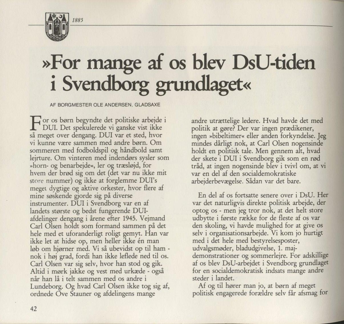 DsU-tiden i Svendborg